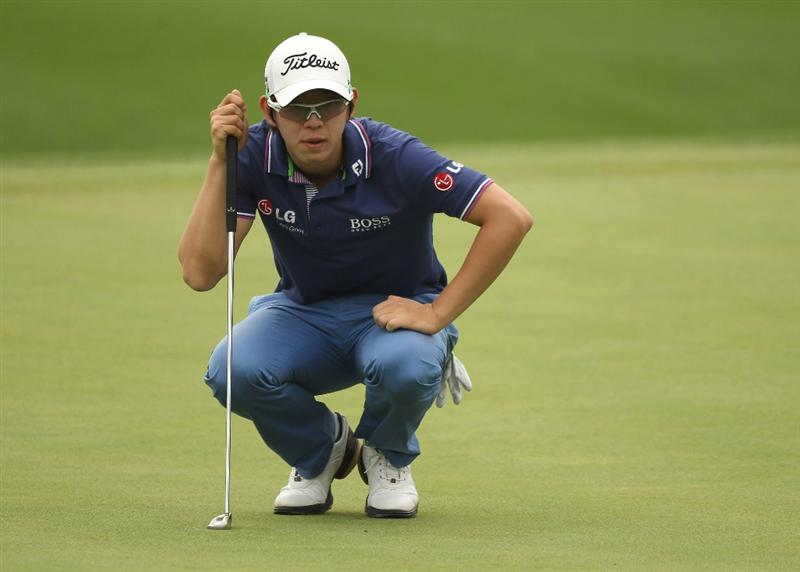 CHENGDU, CHINA - APRIL 21:  Noh Seung-yul of Korea looks on during first round of the Volvo China Open at Luxehills Country Club on April 21, 2011 in Chengdu, China.  (Photo by Ian Walton/Getty Images)