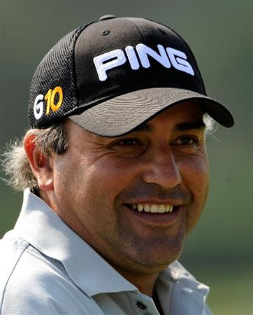 PONTE VEDRA BEACH, FL - MAY 05:  Angel Cabrera of Argentina smiles during a practice round prior to the start of THE PLAYERS on the Stadium course at the TPC Sawgrass on May 5, 2009 in Ponte Vedra Beach, Florida.  (Photo by Sam Greenwood/Getty Images)