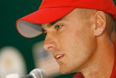 Charles Howell III speaks to the media during practice for The Presidents Cup on September 25, 2007, at The Royal Montreal Golf Club in Montreal, Quebec, Canada. PGA TOUR - 2007 The Presidents Cup - September 25, 2007Photo by Caryn Levy/PGA TOUR/WireImage.com
