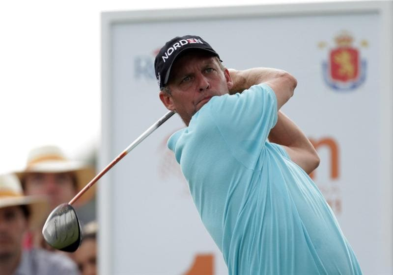BARCELONA, SPAIN - MAY 08:  Anders Hansen of Denmark during the final round of the Open de Espana at the Real Club de Golf El Prat on May 8 , 2011 in Barcelona, Spain.  (Photo by Ross Kinnaird/Getty Images)