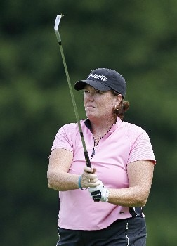 SYLVANIA, OH - JULY 14: Meg Mallon hits her second shot on the 16th hole during the third round of the Jamie Farr Owens Corning Classic on July 14, 2007 in Sylvania, Ohio. (Photo by Hunter Martin/Getty Images)