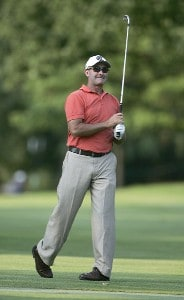 David McKenzie of Australia during the first round of the Cialis Western Open on the No. 4 Dubsdread course at Cog Hill Golf and Country Club in Lemont, Illinois on July 6, 2006.