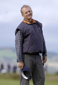 Bill Murray during the second round of 2006 Alfred Dunhill Links Championship on the old course at St. Andrews, Scotland on October 6, 2006. Photo by Sandy Young/WireImage.com