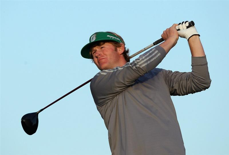 SCOTTSDALE, AZ - FEBRUARY 05: Brandt Snedeker hits a tee shot on the third hole during the third round of the Waste Management Phoenix Open at TPC Scottsdale on February 5, 2011 in Scottsdale, Arizona.  (Photo by Christian Petersen/Getty Images)