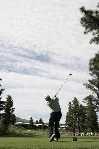 Steve Flesch at the 18th tee box during the fourth and final round of the Reno Tahoe Open held at Montreux Golf and Country Club in Reno, Nevada, on August 5, 2007. PGA TOUR - 2007 Reno Tahoe Open - Final RoundPhoto by S. Badz/WireImage.com