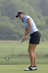 Brittany Lang  during the first round  at Newport Country Club, site of the 2006 U. S. Women's Open in Newport, Rhode Island, June 30.