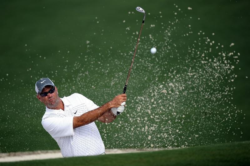 AUGUSTA, GA - APRIL 08:  Stewart Cink hits a bunker shot on the second hole during the second round of the 2011 Masters Tournament at Augusta National Golf Club on April 8, 2011 in Augusta, Georgia.  (Photo by Harry How/Getty Images)