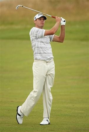 TURNBERRY, SCOTLAND - JULY 16:  Nick Watney of USA hits an approach shot during round one of the 138th Open Championship on the Ailsa Course, Turnberry Golf Club on July 16, 2009 in Turnberry, Scotland.  (Photo by Ross Kinnaird/Getty Images)