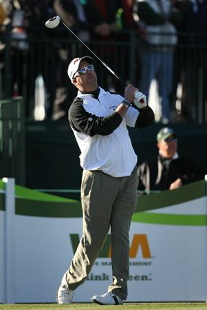 SCOTTSDALE, AZ - FEBRUARY 03:  Chris Couch hits a tee shot on the 17th hole during the first round of the Waste Management Phoenix Open at TPC Scottsdale on February 3, 2011 in Scottsdale, Arizona.  (Photo by Christian Petersen/Getty Images)