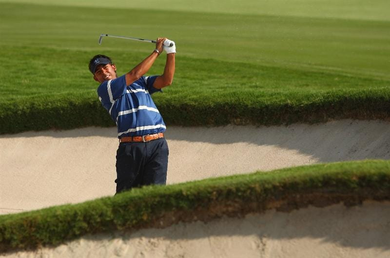 BANGKOK, THAILAND - JANUARY 09:  Pablo Larrazabal of Spain in action during the foursomes on Day one of The Royal Trophy at the Amata Spring Country Club on January 9, 2009 in Bangkok, Thailand.  (Photo by Ian Walton/Getty Images)