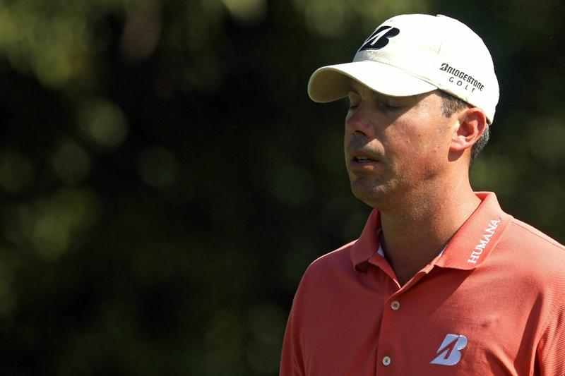 LEMONT, IL - SEPTEMBER 10:  Matt Kuchar closes his eyes as he walks down the 11th hole during the second round of the BMW Championship at Cog Hill Golf & Country Club on September 10, 2010 in Lemont, Illinois.  (Photo by Scott Halleran/Getty Images)