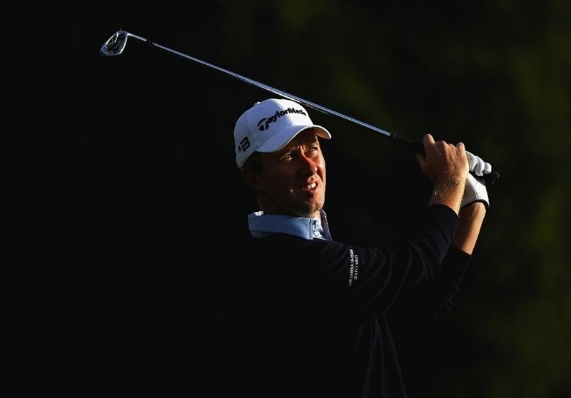 CRANS, SWITZERLAND - SEPTEMBER 05:  Mark Foster of England plays his second shot on the 12th hole during the second round of the Omega European Masters at Crans-Sur-Sierre Golf Club on September 5, 2008 in Crans Montana, Switzerland.  (Photo by Andrew Redington/Getty Images)