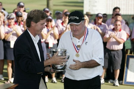 Allen Doyle wins the the U. S. Senior Open, July 31,2005, held at the NCR Country Club, Kettering, Ohio.Photo by Stan Badz/PGA TOUR/WireImage.com