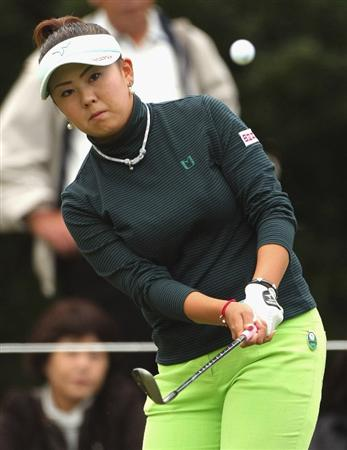SHIMA, JAPAN - NOVEMBER 07:  Miki Saiki of Japan looks on the 17th green during the first round of 2008 Mizuno Classic at Kintetsu Kashikojima Country Club on November 7, 2008 in Shima, Mie, Japan.  (Photo by Koichi Kamoshida/Getty Images)