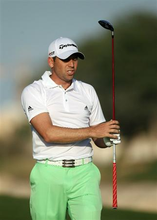 DOHA, QATAR - FEBRUARY 04:  Sergio Garcia of Spain during the second round of the Commercialbank Qatar Masters at the Doha Golf Club on February 4, 2011 in Doha, Qatar.  (Photo by Ross Kinnaird/Getty Images)