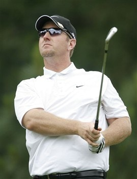 DULUTH, GA - MAY 16:  David Duval watches his tee shot on the second hole during the second round of the AT&T Classic at TPC Sugarloaf on May 16, 2008 in Duluth, Georgia.  (Photo by Matt Sullivan/Getty Images)