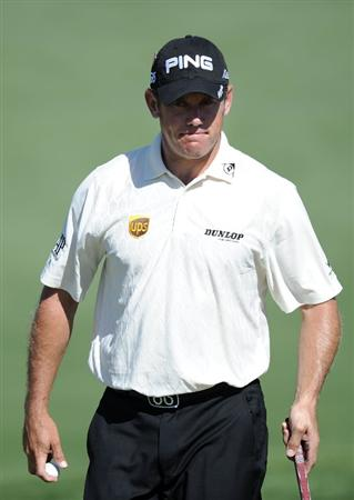 AUGUSTA, GA - APRIL 07:  Lee Westwood of England walks across the second green during the first round of the 2011 Masters Tournament at Augusta National Golf Club on April 7, 2011 in Augusta, Georgia.  (Photo by Harry How/Getty Images)