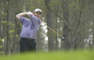 Greg Chalmers In action during the frist round of the Shell Houston Open at the Redstone Golf Club,Tournament Course, Humble, Texas, on Thursday, April 20, 2006Photo by Marc Feldman/WireImage.com