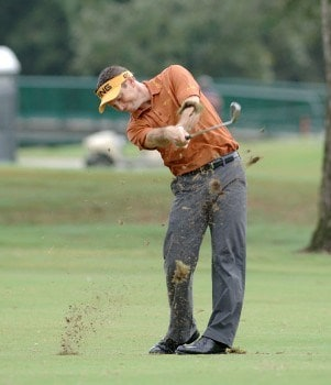 Mark Wilson plays from the fairway on the second hole  during the final  round of  the 2005 Funai Classic at World Disney World Resort October 23.Photo by Al Messerschmidt/WireImage.com