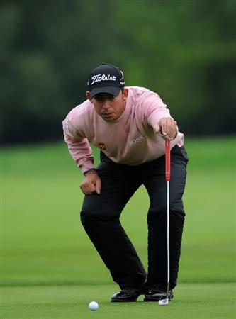 MUNICH, GERMANY - JUNE 24:  Pablo Larrazabal of Spain during the Pro - am prior to The BMW International Open Golf at The Munich North Eichenried Golf Club on June 24, 2009, in Munich, Germany.  (Photo by Stuart Franklin/Getty Images)
