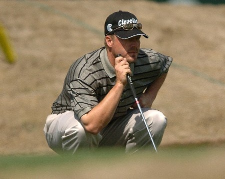 Brett Wetterich in action during the third round of the PGA's Tour 2005 Chrysler Classic of Tucson at the Omni Tucson National Golf Resort & Spa February 26, 2005 in Tuscon, Arizona.