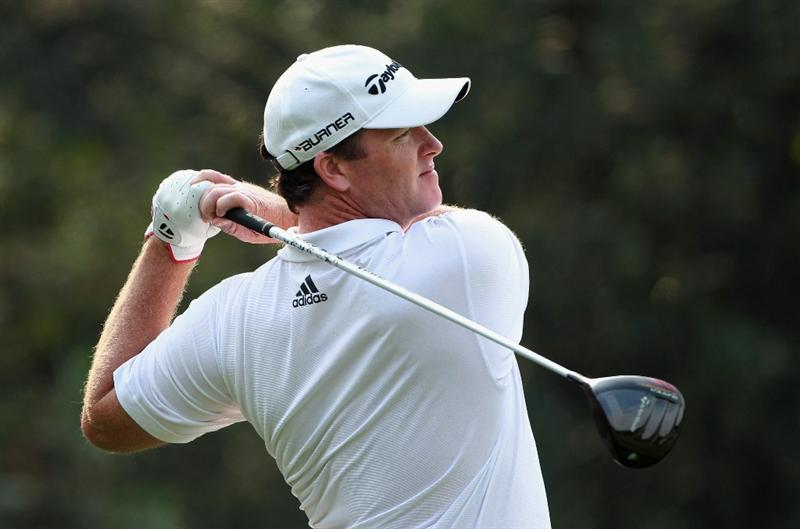 SHANGHAI, CHINA - NOVEMBER 04:  Marcus Fraser of Australia in action during the first round of the WGC-HSBC Champions at Sheshan International Golf Club on November 4, 2010 in Shanghai, China.  (Photo by Andrew Redington/Getty Images)
