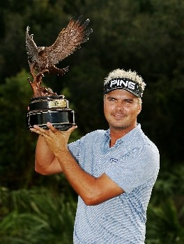 Daniel Chopra holds his trophy after winning the Ginn Sur Mer Classic at Tesoro on October 29, 2007 in Port Saint Lucie, Florida. PGA TOUR - 2007 Ginn sur Mer Classic - Final RoundPhoto by Doug Benc/WireImage.com