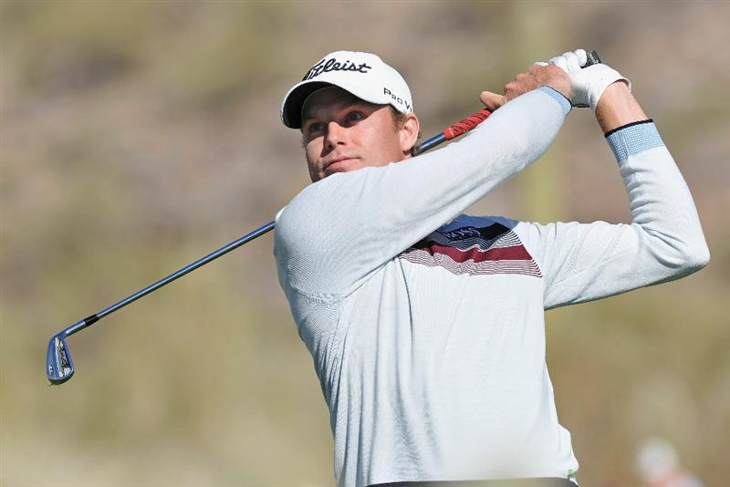 MARANA, AZ - FEBRUARY 24:  Nick Watney plays his tee shot on the 16th hole during the second round of the Accenture Match Play Championship at the Ritz-Carlton Golf Club on February 24, 2011 in Marana, Arizona.  (Photo by Stuart Franklin/Getty Images)
