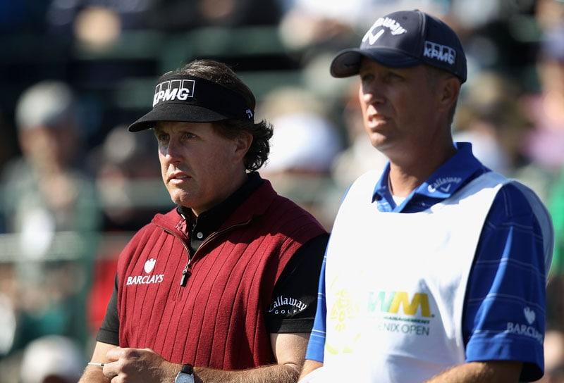 Phil Mickelson and Jim 'Bones' Mackay