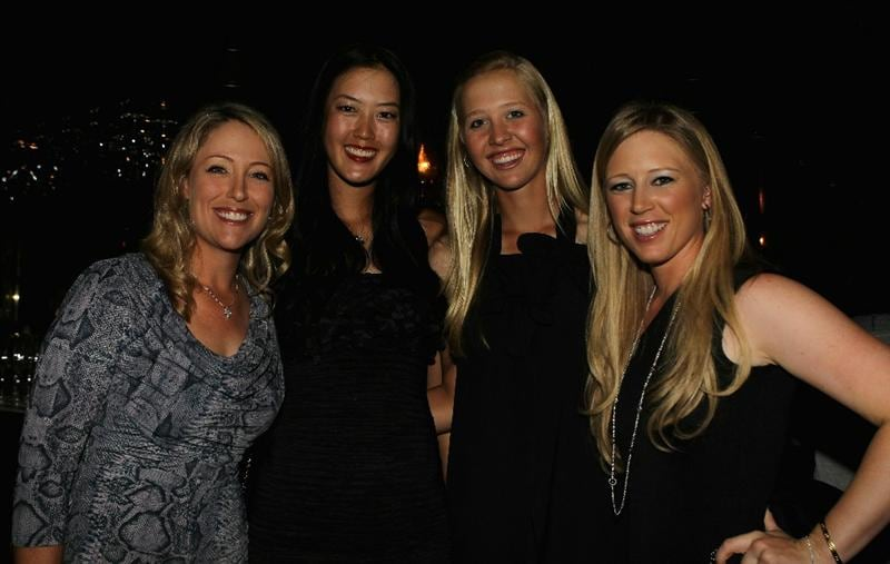 SINGAPORE - FEBRUARY 23:  (L-R) Cristie Kerr, Michelle Wie, Jessica Korda and Morgan Pressel (all of the USA) pose for a photograph during the Welcome Reception prior to the start of the HSBC Women's Champions at the Tanah Merah Country Club on February 23, 2011 in Singapore.  (Photo by Scott Halleran/Getty Images)