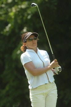 Rachel Hetherington in action during the first round of the LPGA's Wendy's Championship For Children at Tartan Fields Golf Club in Dublin, Ohio August 25, 2005.Photo by Steve Grayson/WireImage.com