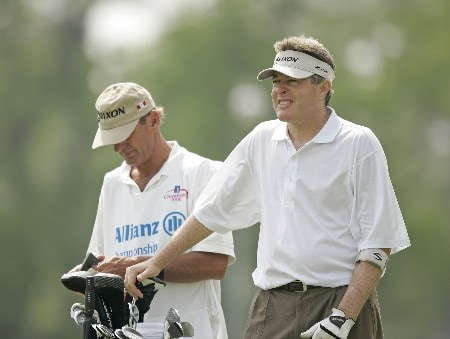 Mark Lye on the 16th hole during the first round of the 2005 Allianz Championship at the Tournament Club of Iowa in Polk City, Iowa on June 3, 2005.Photo by Mike Ehrmann/WireImage.com
