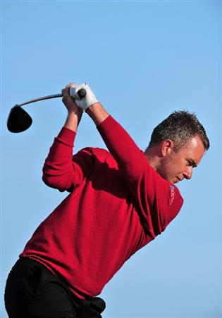 ESTORIL, PORTUGAL - APRIL 05:  Mark Foster of England plays a tee shot during the final round of The Estoril Open de Portugal The Oitavos Dunes Golf Course on April 5, 2009 in Cascais, Portugal.  (Photo by Stuart Franklin/Getty Images)