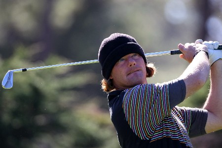 PEBBLE BEACH, CA - FEBRUARY 08:  Alex Cejka of Germany hits a shot during the second round of the At&T Pebble Beach National Pro-Am at Poppy Hills Golf Links on February 8, 2008 in Pebble Beach, California.  (Photo by Jed Jacobsohn/Getty Images)