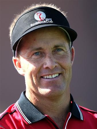 ORLANDO, FL - MARCH 14:  Stuart Appleby of Australia smiles during the first day of the Tavistock Cup at Isleworth Golf and Country Club on March 14, 2011 in Orlando, Florida.  (Photo by Sam Greenwood/Getty Images)