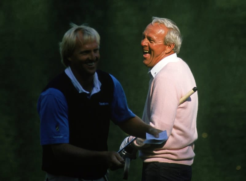Greg Norman and Arnold Palmer