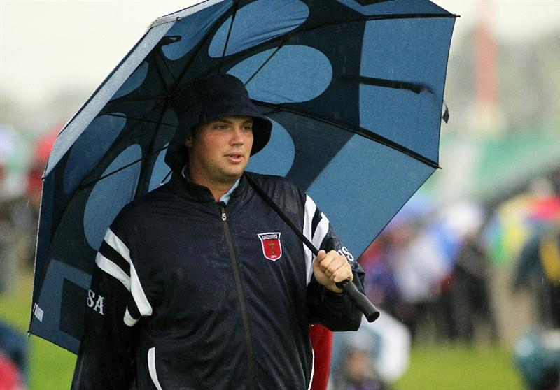 NEWPORT, WALES - OCTOBER 01:  Jeff Overton of the USA walks to the second green during the Morning Fourball Matches during the 2010 Ryder Cup at the Celtic Manor Resort on October 1, 2010 in Newport, Wales.  (Photo by Jamie Squire/Getty Images)