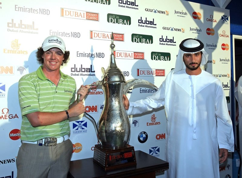 Rory McIlroy at the 2009 Dubai Desert Classic