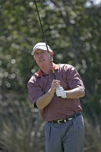 Hale Irwin during the final round of the ACE Group Classic held at the TwinEagles GC in Naples, Florida on Sunday, February 19, 2006.Photo by Sam Greenwood/WireImage.com