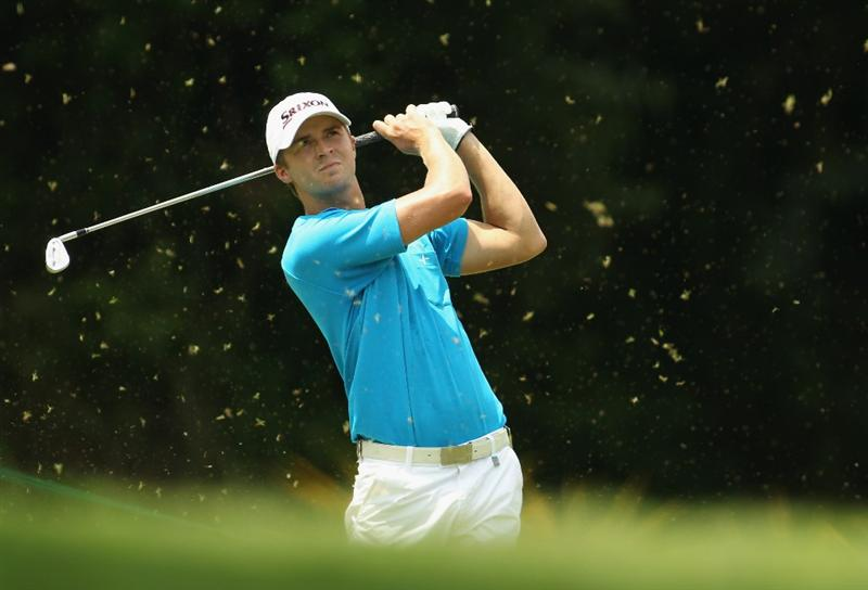 SINGAPORE - NOVEMBER 13:  Rikard Karlberg of Sweden in action during the 3rd Round of the Barclays Singapore Open at Sentosa Golf Club on November 13, 2010 in Singapore, Singapore.  (Photo by Ian Walton/Getty Images)