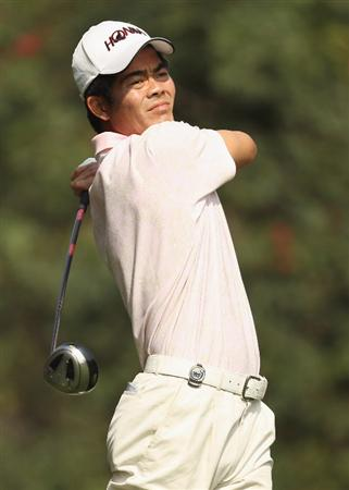 NEW DELHI, INDIA - FEBRUARY 11:  Wen-Chong Liang of China in action during Round One of the Avantha Masters held at The DLF Golf and Country Club on February 11, 2010 in New Delhi, India.  (Photo by Ian Walton/Getty Images)