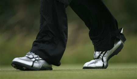SOUTHPORT, UNITED KINGDOM - JULY 19:  Jeff Overton of USA wears silver shoes during the third round of the 137th Open Championship on July 19, 2008 at Royal Birkdale Golf Club, Southport, England.  (Photo by Andy Lyons/Getty Images)