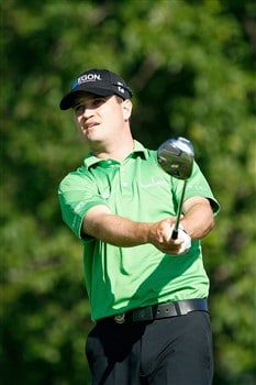 BLOOMFIELD HILLS, MI - AUGUST 07:  Zach Johnson watches his tee shot on the 14th hole during round one of the 90th PGA Championship at Oakland Hills Country Club on August 7, 2008 in Bloomfield Township, Michigan.  (Photo by Hunter Martin/Getty Images)