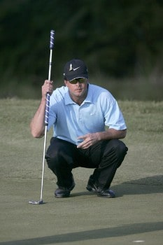Chris Couch on the 17th hole during the first round of the Nationwide Tour Championship held on the Senator course at Capitol Hill GC in Prattville, Alabama on Thursday, October 27, 2005.Photo by Sam Greenwood/WireImage.com