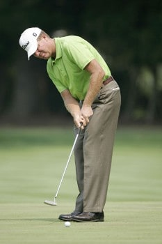 Steve Elkington during the third round of the 2005 PGA Championship at Baltusrol Golf Club in Springfield, New Jersey on August 13, 2005.Photo by Christopher Condon/WireImage.com