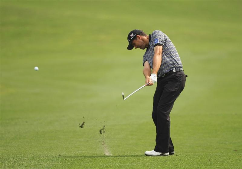 CHENGDU, CHINA - APRIL 22:  Padraig Harrington of Ireland in action during day two of the Volvo China Open at Luxehills Country Club on April 22, 2011 in Chengdu, China.  (Photo by Ian Walton/Getty Images)