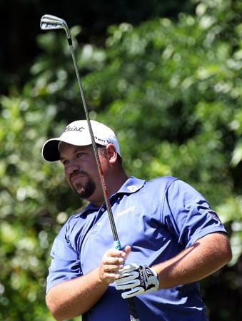 PALM HARBOR, FL - MARCH 19:  Brendon de Jonge plays a shot on the 3rd hole during the third round of the Transitions Championship at Innisbrook Resort and Golf Club on March 19, 2011 in Palm Harbor, Florida.  (Photo by Sam Greenwood/Getty Images)