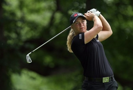 EDINA, MN - JUNE 25:  Suzann Pettersen of Norway tees off at the 15th hole during a practice round prior to the 2008 U.S. Women's Open at Interlachen Country Club on June 25, 2008 in Edina, Minnesot.  (Photo by David Cannon/Getty Images)