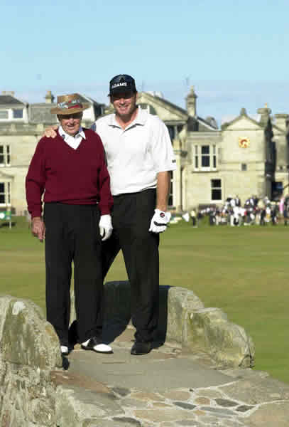 Sam Snead and Nick Faldo