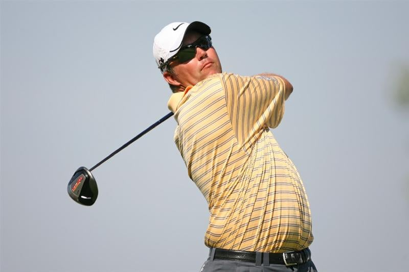 LEMONT, IL - SEPTEMBER 10: Bo Van Pelt hits his tee shot on the 15th hole during the first round of the BMW Championship at Cog Hill Golf & Country Club on September 10, 2009 in Lemont, Illinois. (Photo by Hunter Martin/Getty Images)